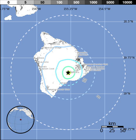 Earthquakes Reported on Hawaii