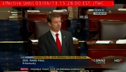 Government Emergency Alert Test Interrupts Rand Paul Filibuster